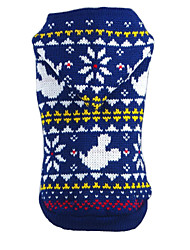 Lovely Winter Christmas Snowfake Pattern and Cartoon Mouse with Hoodie for Pets Dogs Clothes