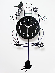 Modern/Contemporary Houses Wall ClockOthers Acrylic / Metal / Wood 36*68cm Indoor Clock