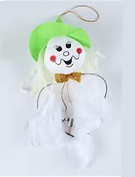Halloween petit ornement blanc fantôme fantôme sorcière épouvantail Fengling décoration (couleur aléatoire)