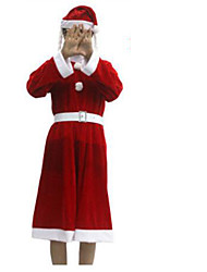 Christmas Costume/Holiday Halloween Costumes Red Solid Skirt / Belt / Hats Christmas Female Nonwoven Fabric / Pleuche