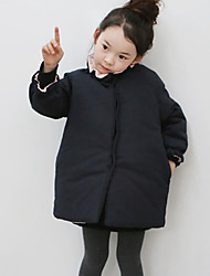 Girl's Casual/Daily Solid Suit & BlazerCotton Winter Blue
