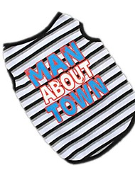 Cute Stripe Man Around Town Shirt Summer Dog Clothes for Pets