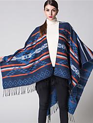 NITE OWL  Women Polyester ScarfCasual RectangleRed / Black / Blue / GrayJacquard-16050