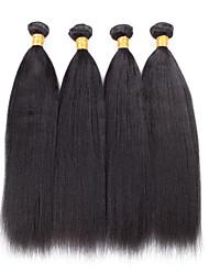 4 Pièces Yaki Tissages de cheveux humains Cheveux Brésiliens 100grams 8inch to 30inch Extensions de cheveux humains