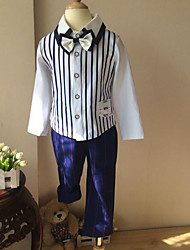 Boy's Formal Striped Clothing SetCotton Spring / Fall Blue / Red