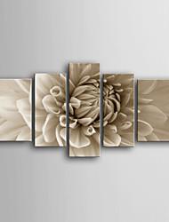 Botânico Impressão em tela 5 Painéis Pronto para pendurar , Vertical