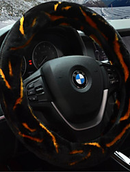 The Car Sets The Steering Wheel Cover In Winter