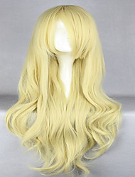 Anime  Promotion Touhou Project Kirisame Marisa 80cm Long Wavy Blonde  Cosplay Wigs
