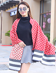 Women's Polyester Rectangle,Casual Print Fall Winter