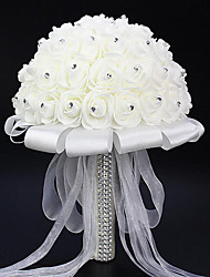 The Bride Wedding Bouquet White Flowers bBouquets Of Roses Bubble Simulation