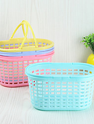 2PC Color Random The Household Culinary Environmental Fruit Wash The Dishes Multifunction Basin Aad Basket