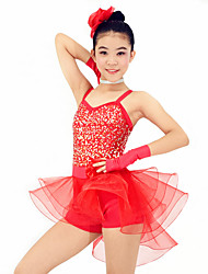 Dresses Performance Spandex / Organza /  Paillettes / Flower(s) / Ruffles / Sequins 6 Pieces Ballet Sleeveless Natural