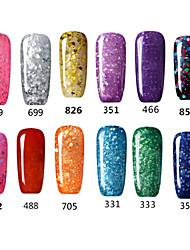 Esmalte de Uñas Gel UV 15ml 1picec la pintura del gel / Esmalte Gel UV de Color / Goma Empapa de Larga Duración