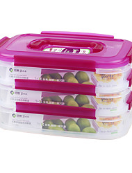 Reusable 3 Compartment Lunch Containers Dry Storage Containers (1.15L*3P)