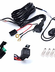 KAWELL 1 Leg Wiring Harness Include Switch Kit Suppot 300W LED work light LED Light Bar Wiring Harness and Switch Kit