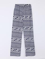 Women's Striped Blue Loose PantsStreet chic Fall