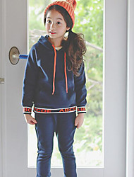 Girl's Casual/Daily Solid Clothing SetCotton Winter / Fall Blue