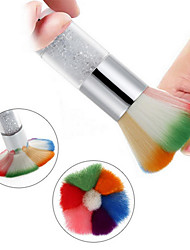 Colorful Long Handle With Diamond Nail Dust Cleaning Brush Beauty Blush