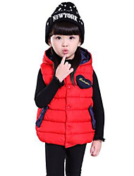 Girl's Casual/Daily Solid Vest,Cotton Winter Black / Blue / Green / Red