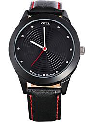 Men's Fashion Quartz Casual Watch Genuine Leather Belt Round Alloy Dial Watch Cool Watch Unique Watch Sport Watch