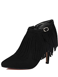 Women's Ankle High Zipper Spikes Stilettos Pointed Closed Toe Boots
