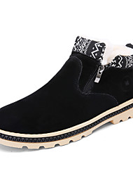 Men's Boots Fall / Winter Snow Boots / Comfort  Casual Flat Heel Zipper Black / Blue / Yellow Walking