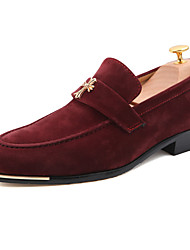 Men's Loafers & Slip-Ons Spring Fall Comfort Suede Casual Flat Heel Hollow-out Black Blue Burgundy Walking