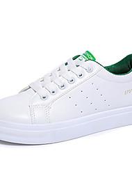 Damen-Sneaker-Outddor / Lässig / Sportlich-Kunstleder-Plateau-Plateau / Creepers / Komfort-Schwarz / Grün / Weiß