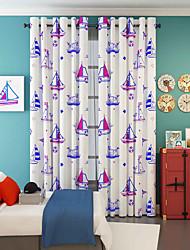 Um Painel Tratamento janela Designer , Desenho Animado Sala de Estar Poliéster Material Cortinas cortinas Decoração para casa For Janela