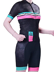Sports Cycling Jersey with Shorts Women's Short Sleeve BikeBreathable  Quick Dry  Anatomic Design  Ultraviolet Resistant  Wearable