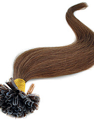 7A 16-24Inch Brazilian Remy Fusion Hair Extensions Nail U Tip Human Hair Straight Brazilian Virgin Hair Prebonded Hair Extensions 40G-50G/100s