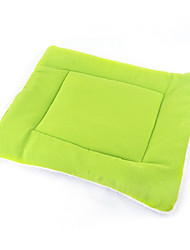 Cat / Dog Bed Pet Mats & Pads Portable / Double-Sided / Breathable / Foldable Green / Blue / Brown / Pink / Orange Polar Fleece