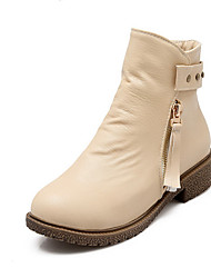 Women's Low Heels Low Top Fringed Zipper Boots