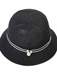 Feminino Fedora / Chapéu de sol Feminino Vintage / Casual Primavera / Verão Palha