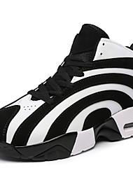 Femme-Décontracté / Sport-Rouge / Blanc-Talon Plat-Confort-Sneakers-Similicuir
