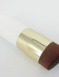 1 Foundation Brush Nylon Wood Face White Handle