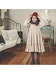 Girl's Casual/Daily Galaxy DressCotton Fall Beige