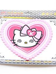 coeur de bande dessinée - forme kt chat anti - coussinets antidérapants automobile fournitures intérieures pad zhihua tapis de la maison