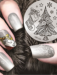 Manicure Printing Template Winter Christmas Tree Christmas joy