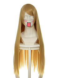 Naruto Natalya Light Flaxen Yellow Long Straight Halloween Wigs Synthetic Wigs Costume Wigs