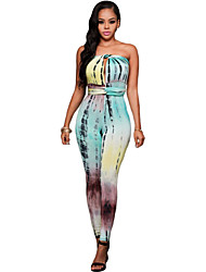 Teal Lime Tie Dye Print Multi-way Jumpsuit