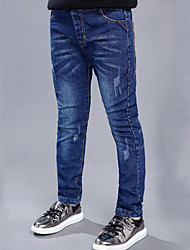 Boy's Casual/Daily Solid JeansCotton Winter Blue