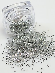 2g Mini Round Thin 3d Color Nail Art Glitter Decoration Sparkly Light/Deep Paillette Nail Tips Shinning Design Y01-07