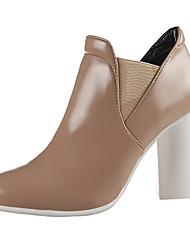 Feminino-Botas-Conforto Sapatos clube-Salto Grosso-Preto Branco Azul Real Vinho Amêndoa-Couro-Social Festas & Noite