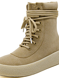 Women's Boots Spring / Summer / Fall / Winter Combat Boots Fur Office & Career / Athletic / Casual Black/Beige Sneaker