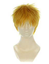 Attack on Titan Reiner Braun Golden Yellow Short Halloween Wigs Synthetic Wigs Costume Wigs