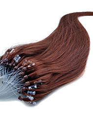brasileños extensiones micro del pelo del lazo suave pelo brasileño virginal recto extensiones micro anillo 40g-50g / set el envío libre