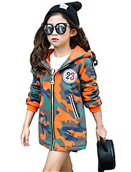 Girl's Casual/Daily Plaid Down & Cotton PaddedCotton / Rayon Winter / Spring / Fall Orange / Red