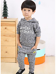 Boy's Casual/Daily Print Clothing SetCotton Fall Gray