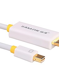 SAMZHE Mini Displayport-HDMI 2.0 Gold Plated Adapter 1080P 1.8m(6Ft)